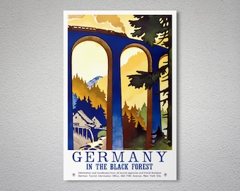 Germany In the Black Forest Travel Poster - Poster Print, Sticker or Canvas Print / Gift Idea