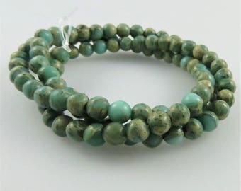 4mm Aqua Terra Jasper Gemstone Beads, Full Strand