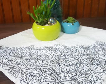 Floral Embroidered Decorative Towel