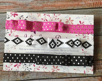 Baby Headbands, Bow Headbands, Baby Girl Headbands, Hair Bow Headbands, Toddler Headband, Elastic Bows, Bow Headband Set, Baby Headband Set