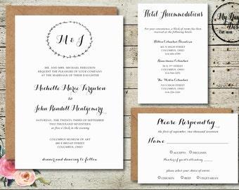 Wreath - Wedding Invitation