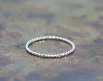 Sterling Silver Rope Ring, Sustainable Sterling Silver, hand-made, eco-friendly, fair trade, recycled