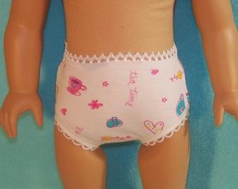 18 inch Doll Teacup Panties