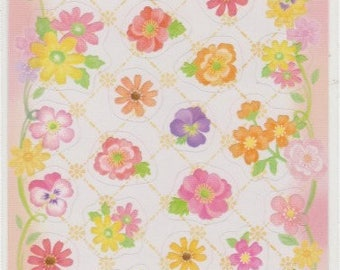Flower Stickers - Reference A4546-47U5748-49