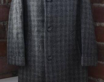 1950s plaid overcoat