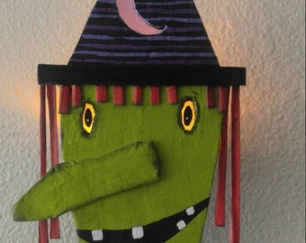 halloween...wall sconce...witch