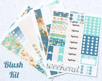 HUGE SALE! Blush Floral Planner Kit (for Vertical Erin Condren Life Planner)