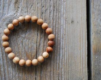 Cedar wood bracelet yoga bracelet wood bracelet mala beads meditation beads yoga beads yoga jewelry