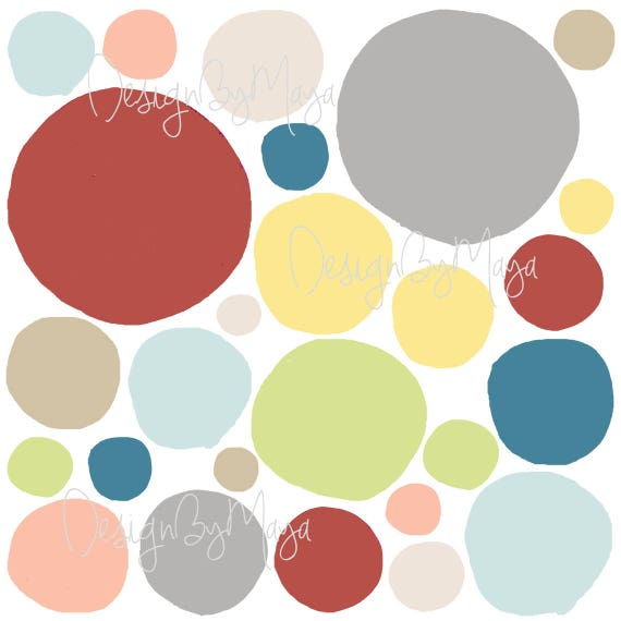 Boy Room Mixed colors Polka Dots Neutral Decor Baby Polka