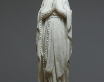 Madonna Holy Blessed Virgin Mother Mary Lady Alabaster Statue Sculpture 8.66in - 22cm **Free Shipping & Free Tracking Number**