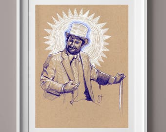 DAYMAN It's Always Sunny in Philadelphia Original Drawing - TV Shows, Charlie Day, IASIP, Comedy, Original Art, Gift for Him, Home Decor
