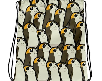 Porgs All Over Print Drawstring Bag