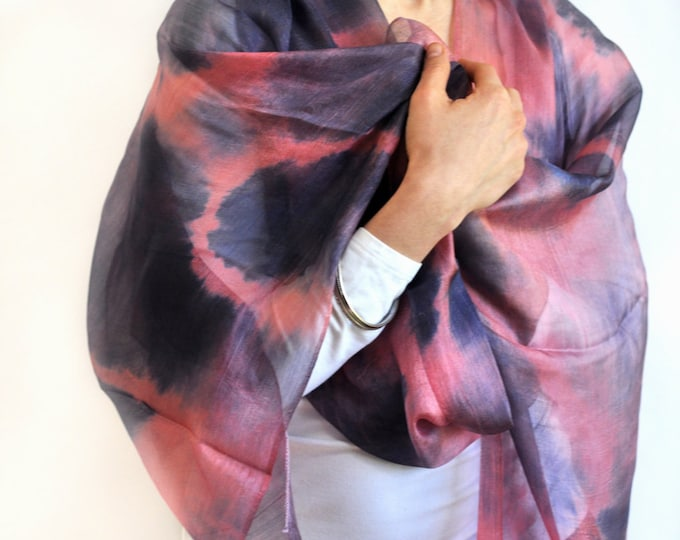 Summer Eclipse Ikat Silk Scarf - 6004