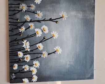 Daisies Acrylic painting