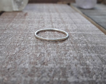 Thin hammered sterling silver stacking ring, minimalist ring, simple ring, silver band, boho gypsy style