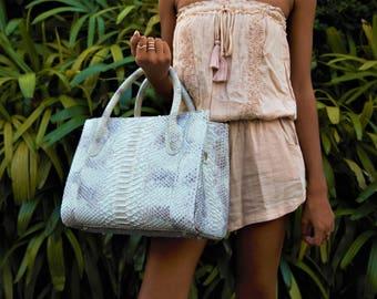 Snakeskin Bag, Python Bag, Leather Handbag, Snakeskin Leather, Snakeskin Handbag, Python Handbag, Snake Skin Bag