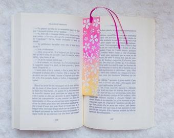 Bookmark stylized cherry flowers