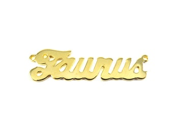 Gold Plated Astrological Name Plate Pendants - Taurus - (2X) (A605-C)