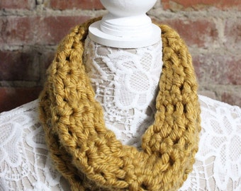 Chunky Cowl Neck Scarf - Mustard Yellow