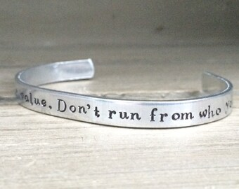 Aslan / Narnia / You Doubt Your Value. Don't Run From Who You Are / CS Lewis / Literary Bracelet / Literary Gift / Book Nerd Gift / Bookish