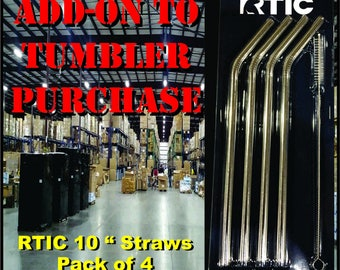 RTIC Straws - Add on purchase with tumbler order