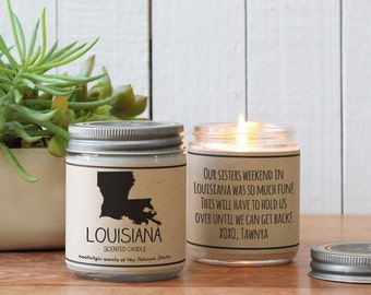 Louisiana Scented Candle - Homesick Gift   State Scented Candle   Louisiana Gift   College Student Gift   State Candles   I Love Louisiana
