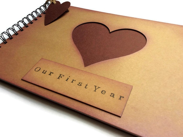 Scrapbook album first year anniversary gift gift for boyfriend