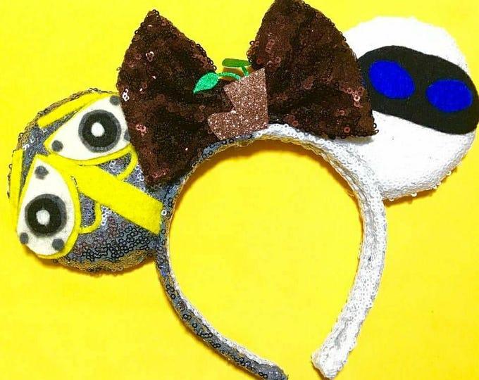 Wall-E & Eve Sequin Minnie ears