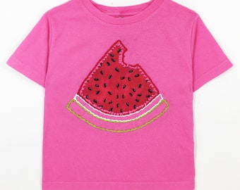 Hand Embroidered Watermelon Shirt- Toddler/Infant