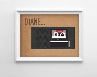 Twin Peaks Diane Art Print