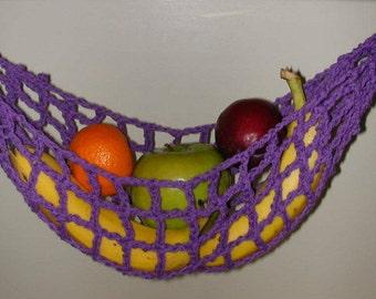 Banana Hammock, Fruit Hanger, Holder, Net, Purple