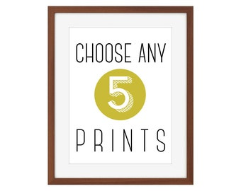 Choose any 5 8x10 prints from The Joyful Fox