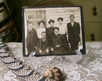 Vintage Photo Black & White Antique Family Matriarch Women Hairdos 1900