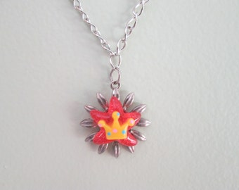 Crown and flower cute choker necklace