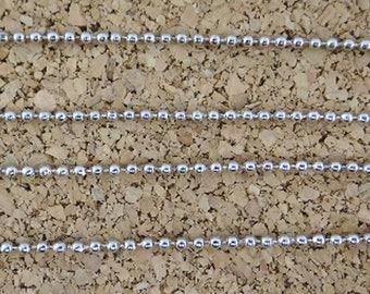4 meters of chains beads 2 mm fca016 steel colored metal