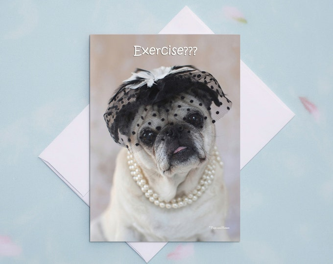 Funny Friendship Cards - Exercise Accessorize - Funny Cards for Friends by Pugs and Kisses