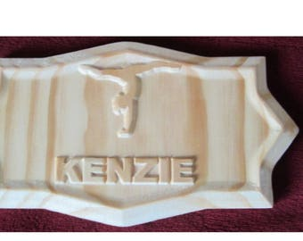 Child's sports plaque, personalized