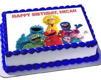 Sesame Street inspired cake toppers cake banner elmo smash