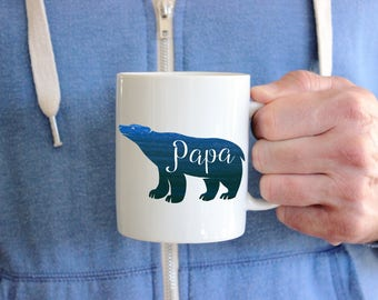 Fathers Day Gift, Papa Bear, Mugs For Daddy, Gift For Dad, Gift For New Dad, Dad To Be, First Time Dad Father's Day, Gift For Papa
