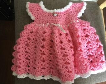 Baby Crochet Dress 0-3 Months