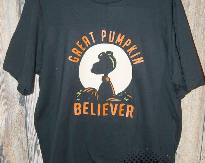 great Pumpkin believer T-shirt fall pumpkin spice Adult Shirt season halloween Boo trick or treat