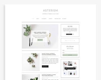 Asterism • Responsive Blogger Template • Fashion Blog Theme • Minimal Blog Design.