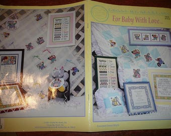 Vintage Cross My Heart For Baby With Love Cross Stitch Pattern