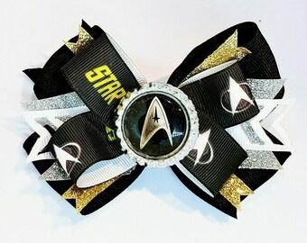 Star Trek Hair Bow Headband Sci Fi Pop Cultire Captain Kirk Mr. Spock  USS Enterprise Cosplay