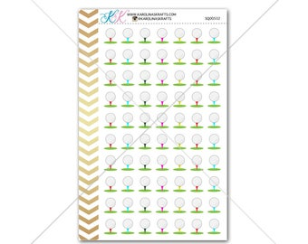 Golf Stickers for planner, calendar! Functional planner stickers tee sticker functional sticker sport sticker #SQ00532