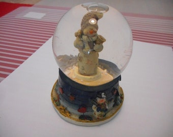 Snow Globe,Water Globe,Snow Men,tree, gift,christmas gift,Vintage Globe, blue Snow globe