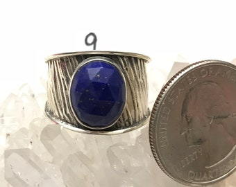 Faceted Lapis Ring Size 9