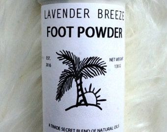 All Natural Foot Powder Lavender Breeze (Odor removal and moisture control)
