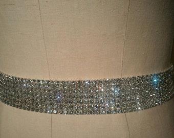 Wedding Belt, Bridal Belt, Bridesmaids Belt, Party Belt, Crystal Rhinestone Belt - Style B202