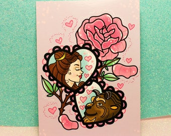 Beauty & the beast! : Postcard mini print
